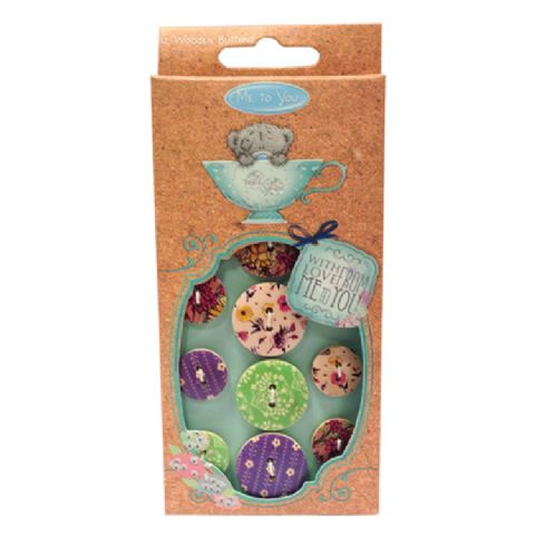 Me To You Mother's Day Wooden Buttons